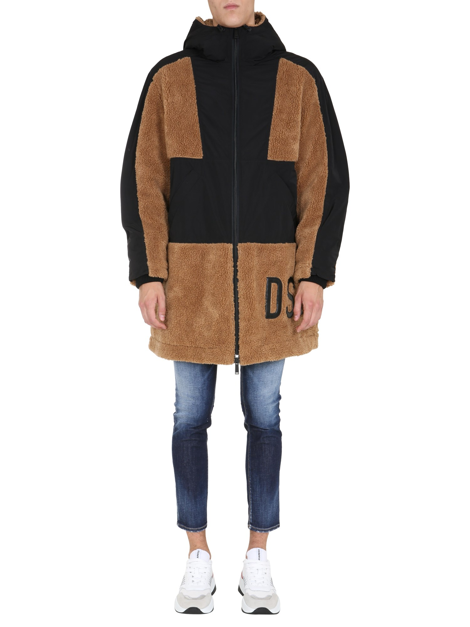 Dsquared coat with logo - dsquared - Modalova