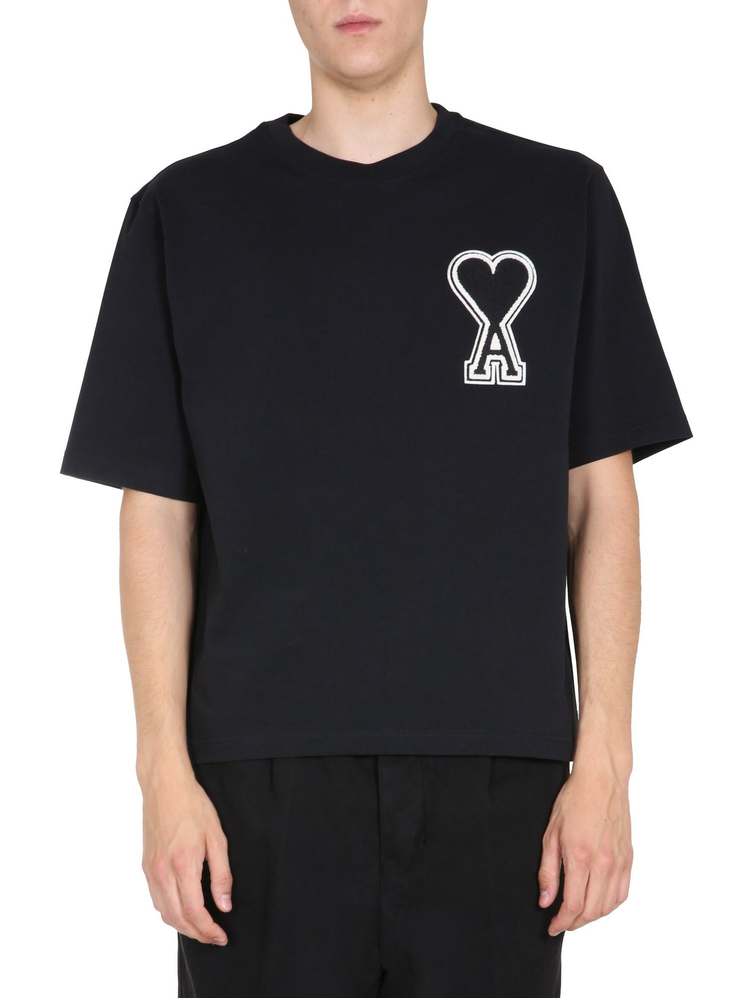 Ami Alexandre Mattiussi Round Neck T-shirt In Black