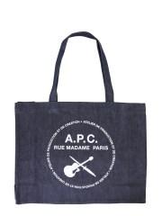 A.P.C. - BORSA SHOPPING CON LOGO