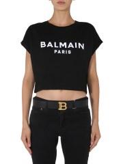 BALMAIN - T-SHIRT CROPPED