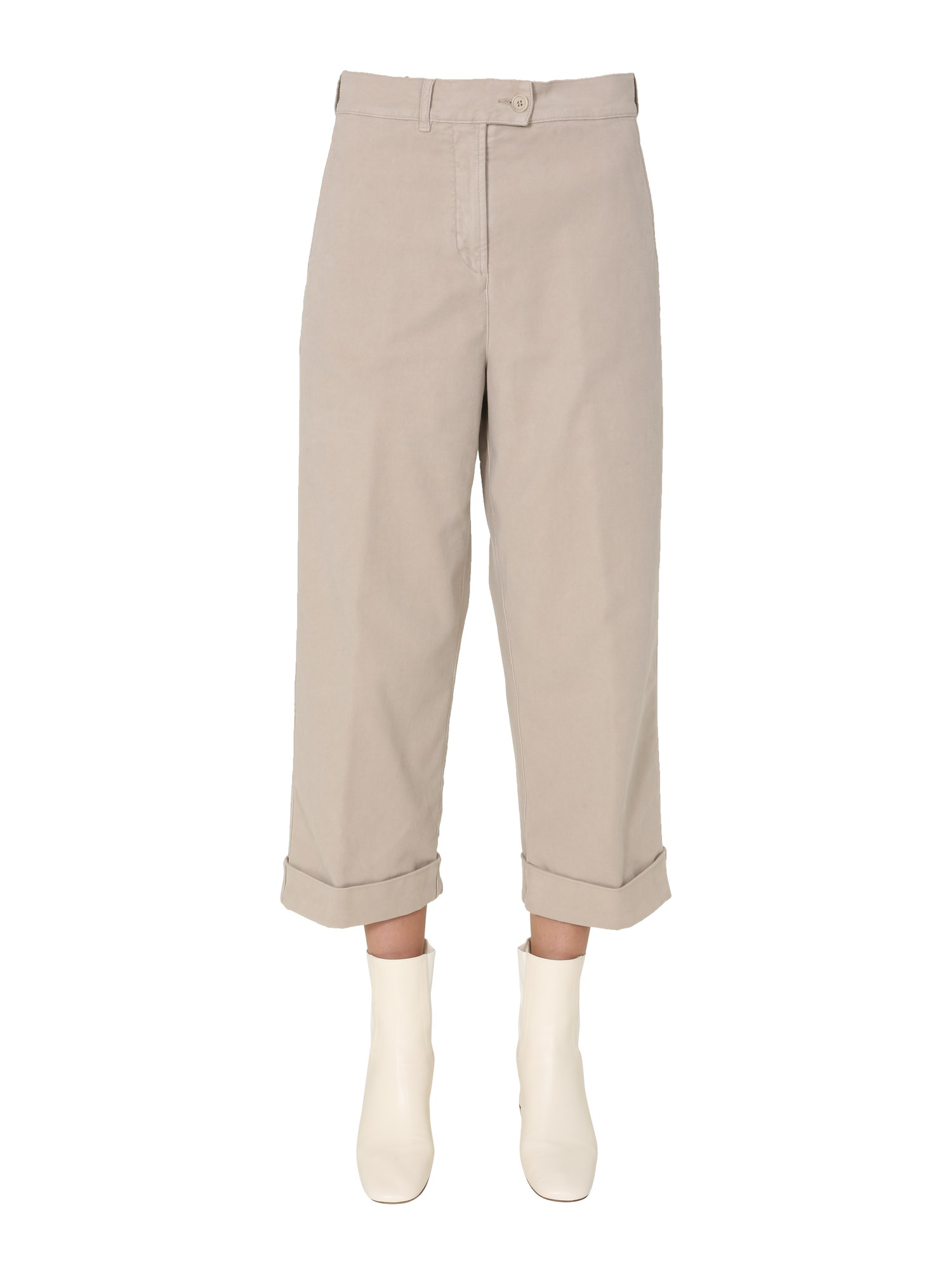 aspesi cotton satin pants