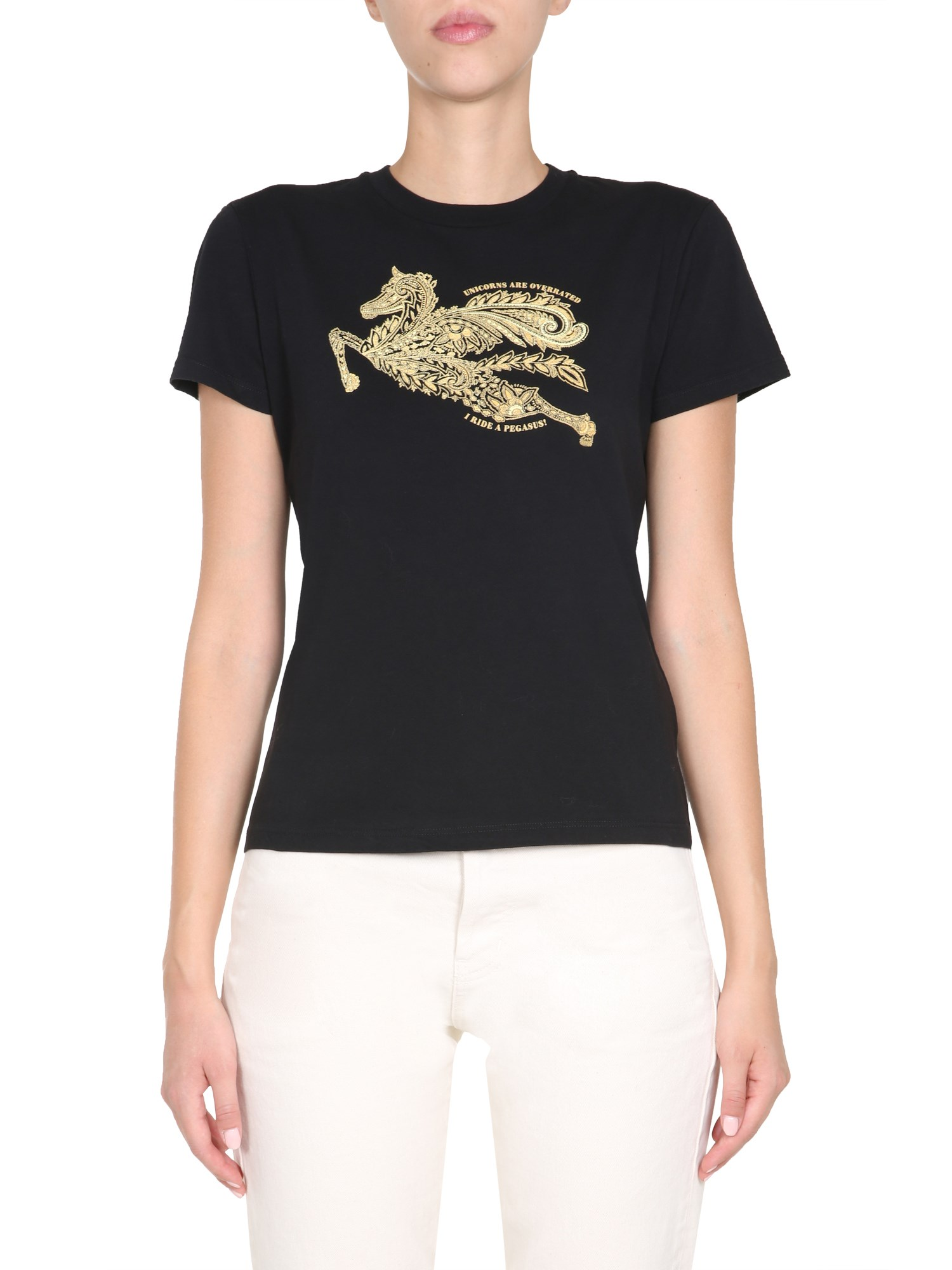 Etro Cottons ROUND NECK T-SHIRT