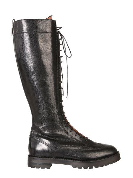 L'autre Chose - Leather High Boots With Laces