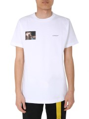 OFF-WHITE - T-SHIRT GIROCOLLO