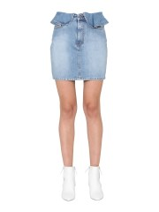 MSGM - MINIGONNA IN DENIM