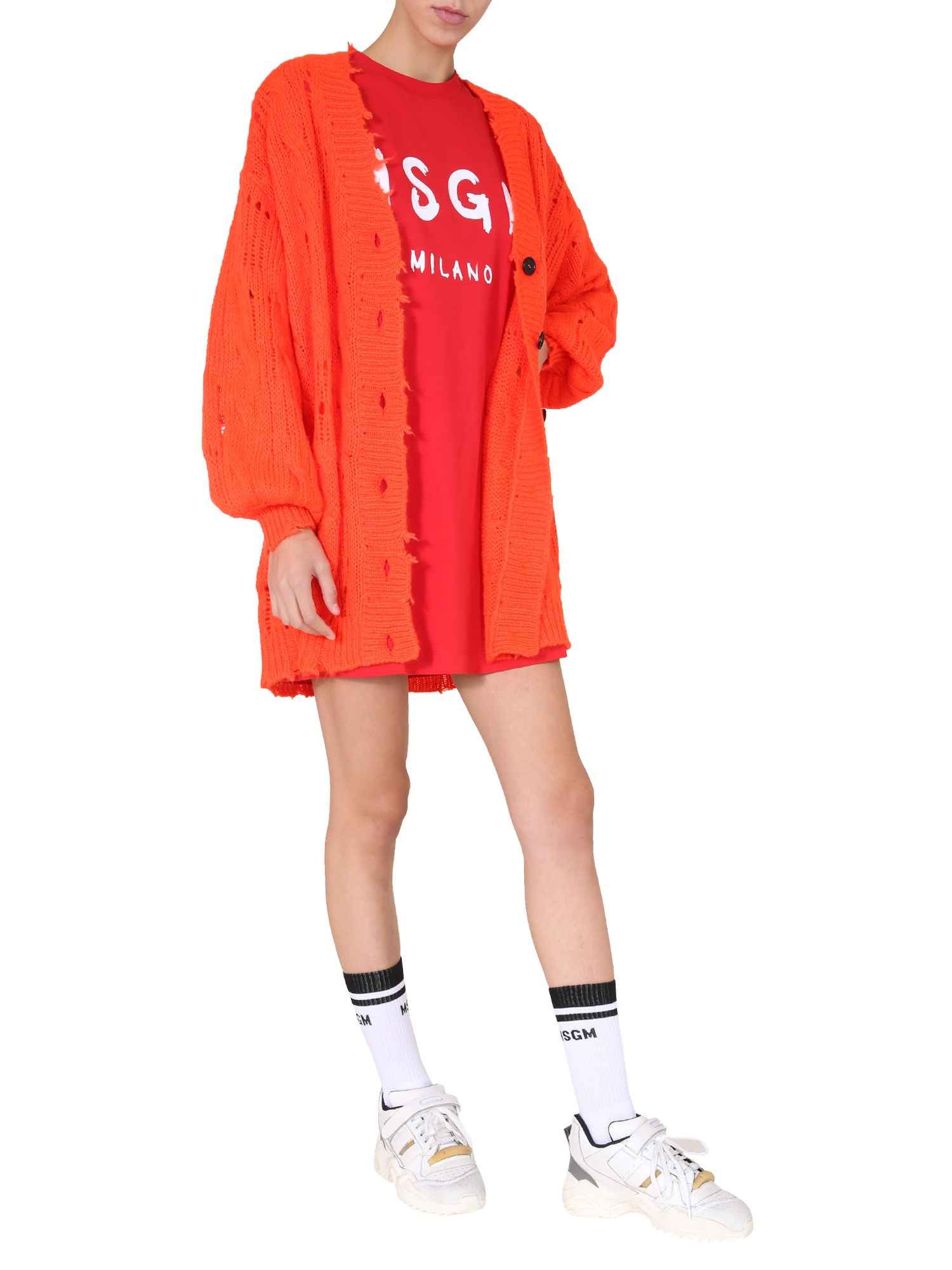 Msgm ROUND NECK DRESS