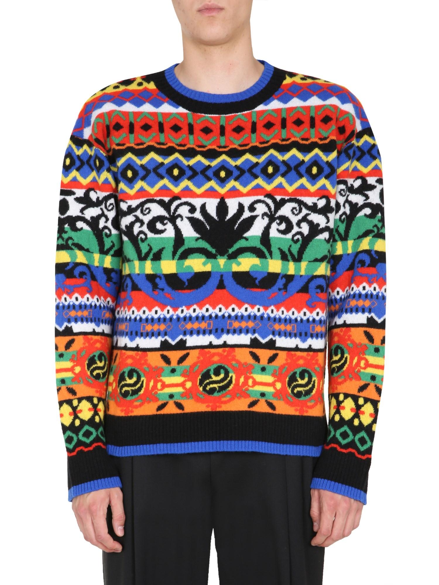 moschino crew neck sweater