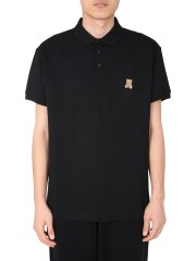 MOSCHINO - POLO CON PATCH