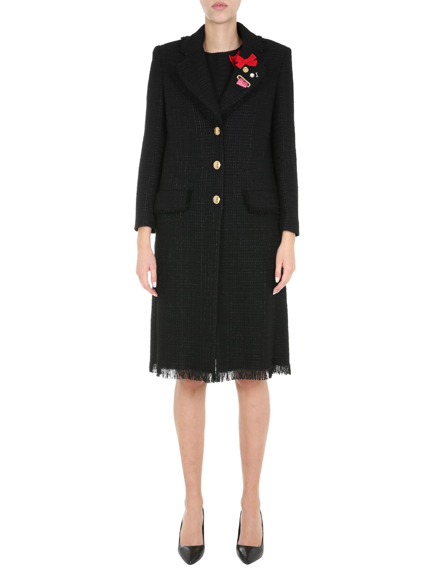 Boutique moschino mat coat - boutique moschino - Modalova