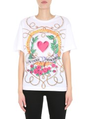 BOUTIQUE MOSCHINO - T-SHIRT GIROCOLLO