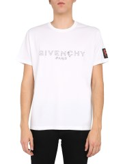 GIVENCHY - T-SHIRT STAMPA LOGO CON APPLICAZIONE