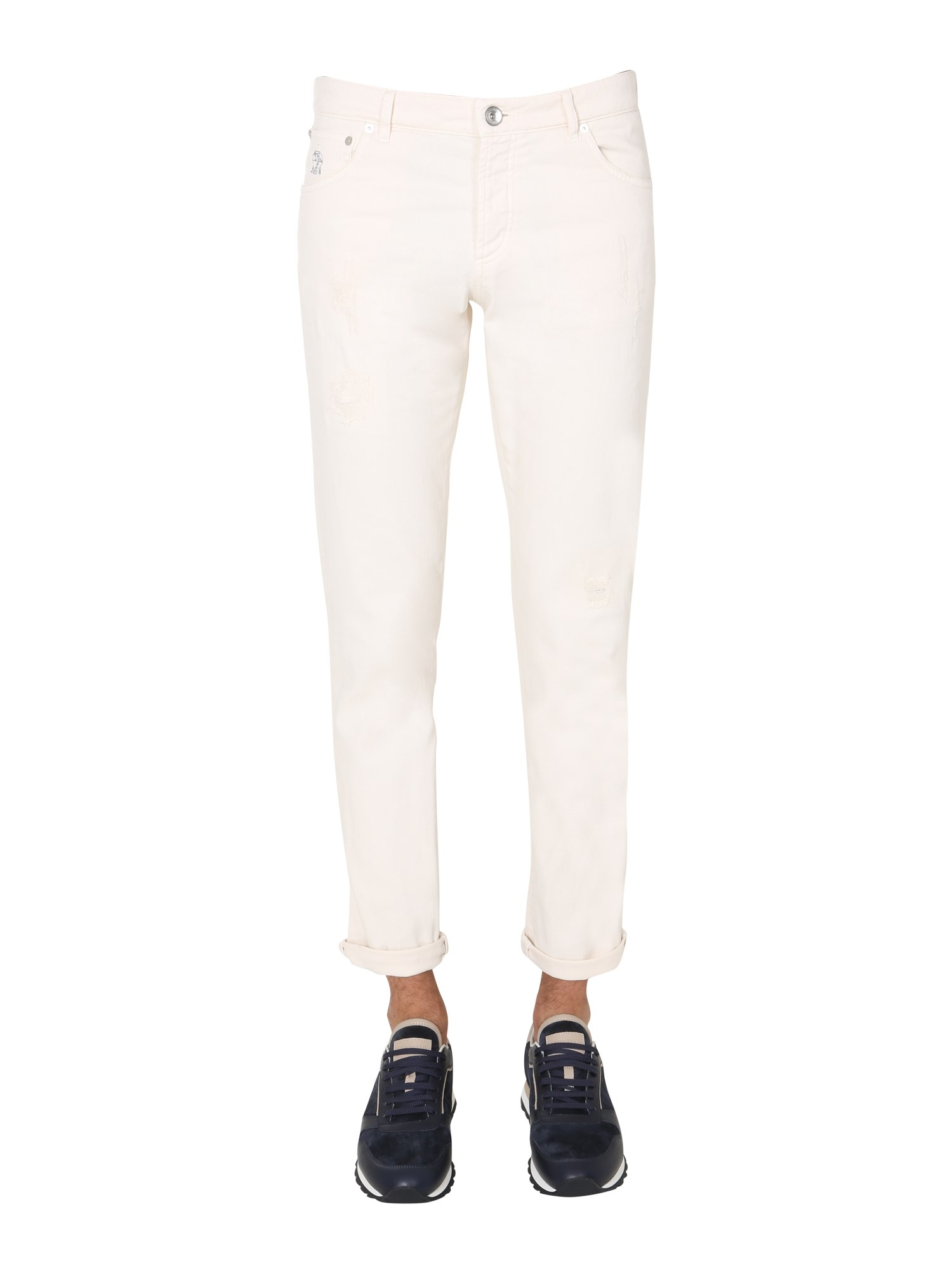 brunello cucinelli skinny fit trousers
