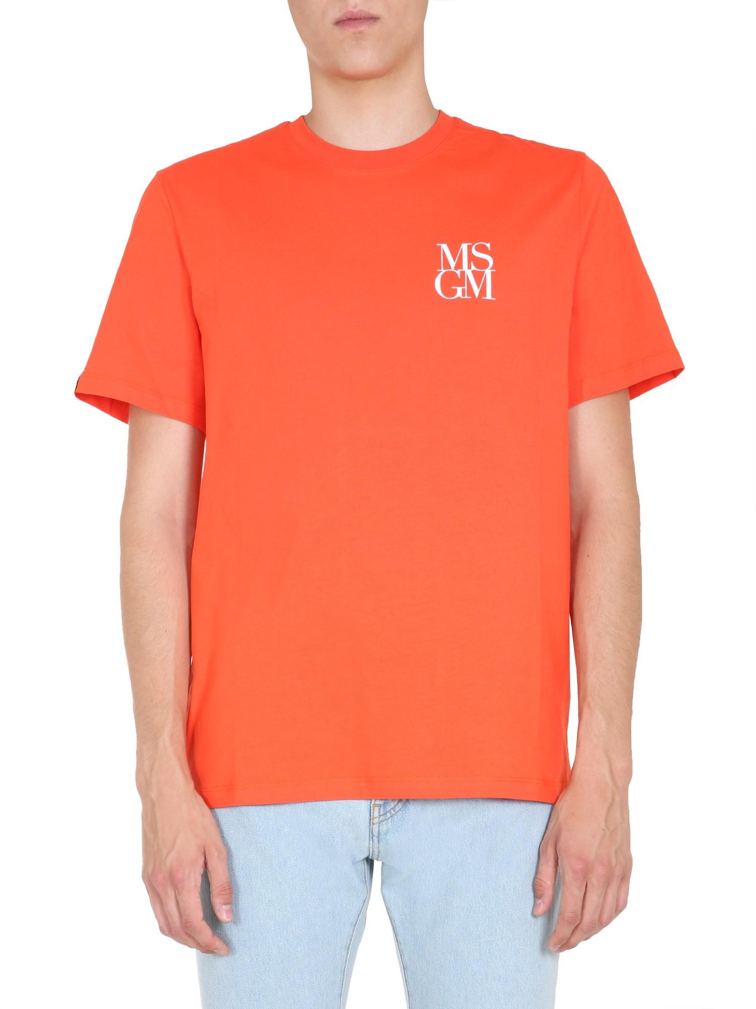 Msgm round neck t-shirt - msgm - Modalova