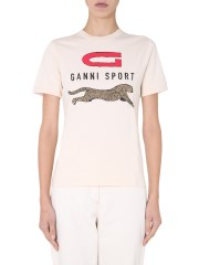 GANNI - T-SHIRT GIROCOLLO
