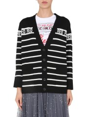 RED VALENTINO - CARDIGAN SCOLLO A V