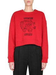 RED VALENTINO - FELPA CROPPED