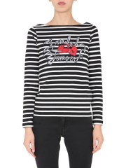 RED VALENTINO - T-SHIRT SCOLLO A BARCA