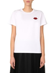 RED VALENTINO - T-SHIRT CON PATCH BOCCA