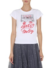RED VALENTINO - T-SHIRT GIROCOLLO