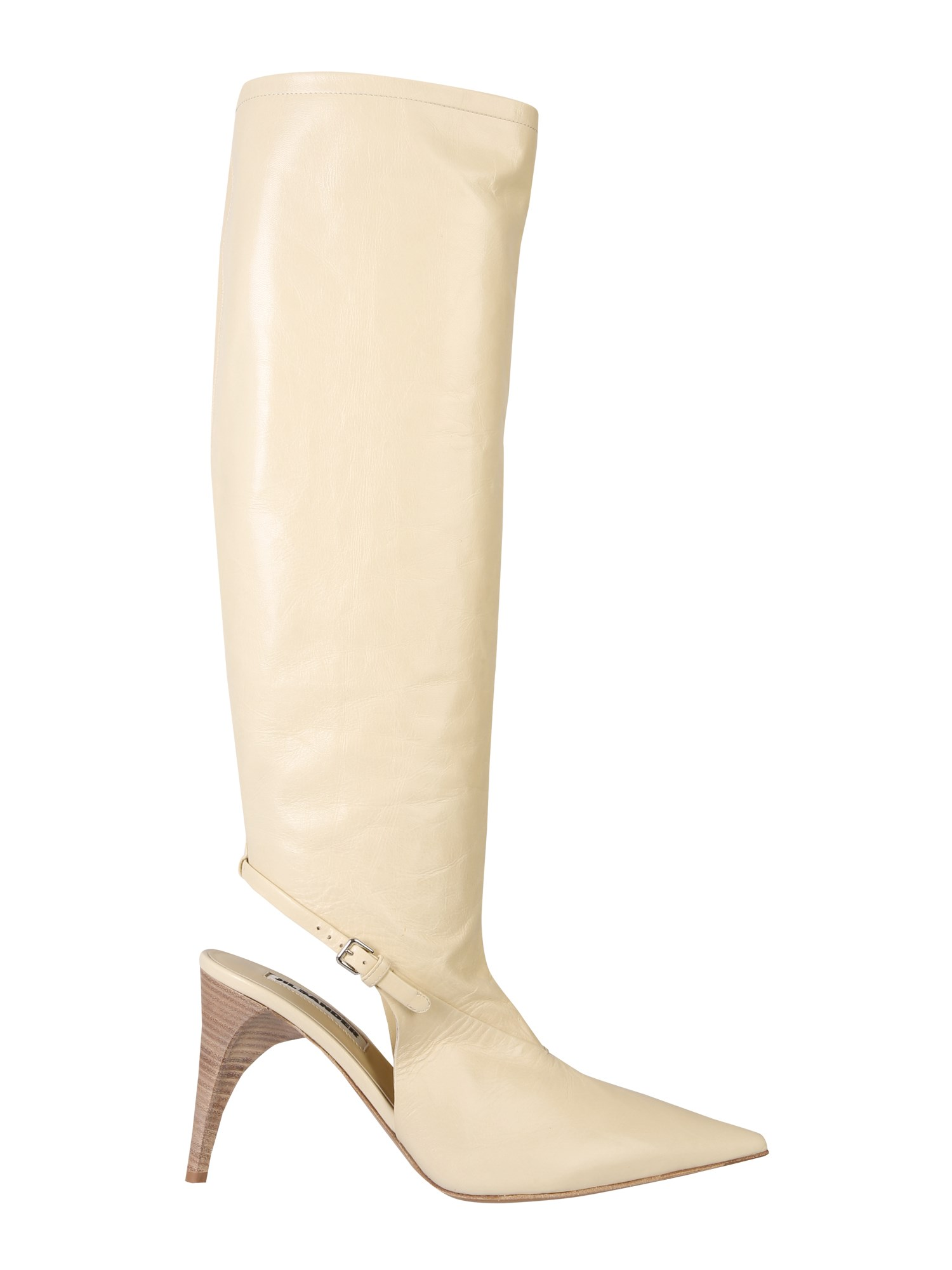 JIL SANDER HIGH SLING BACK BOOTS