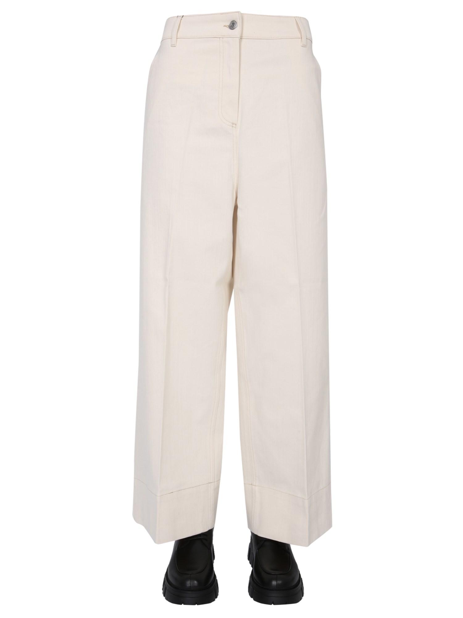 Maison kitsuné high waist jeans - maison kitsuné - Modalova
