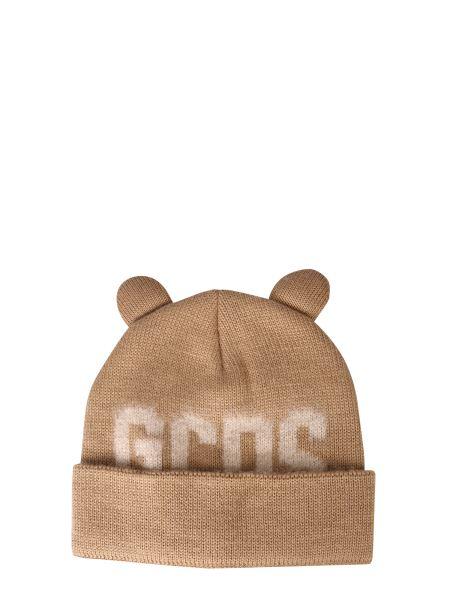 """Gcds - """"teddy"""" Wool Blend Knit Hat"""