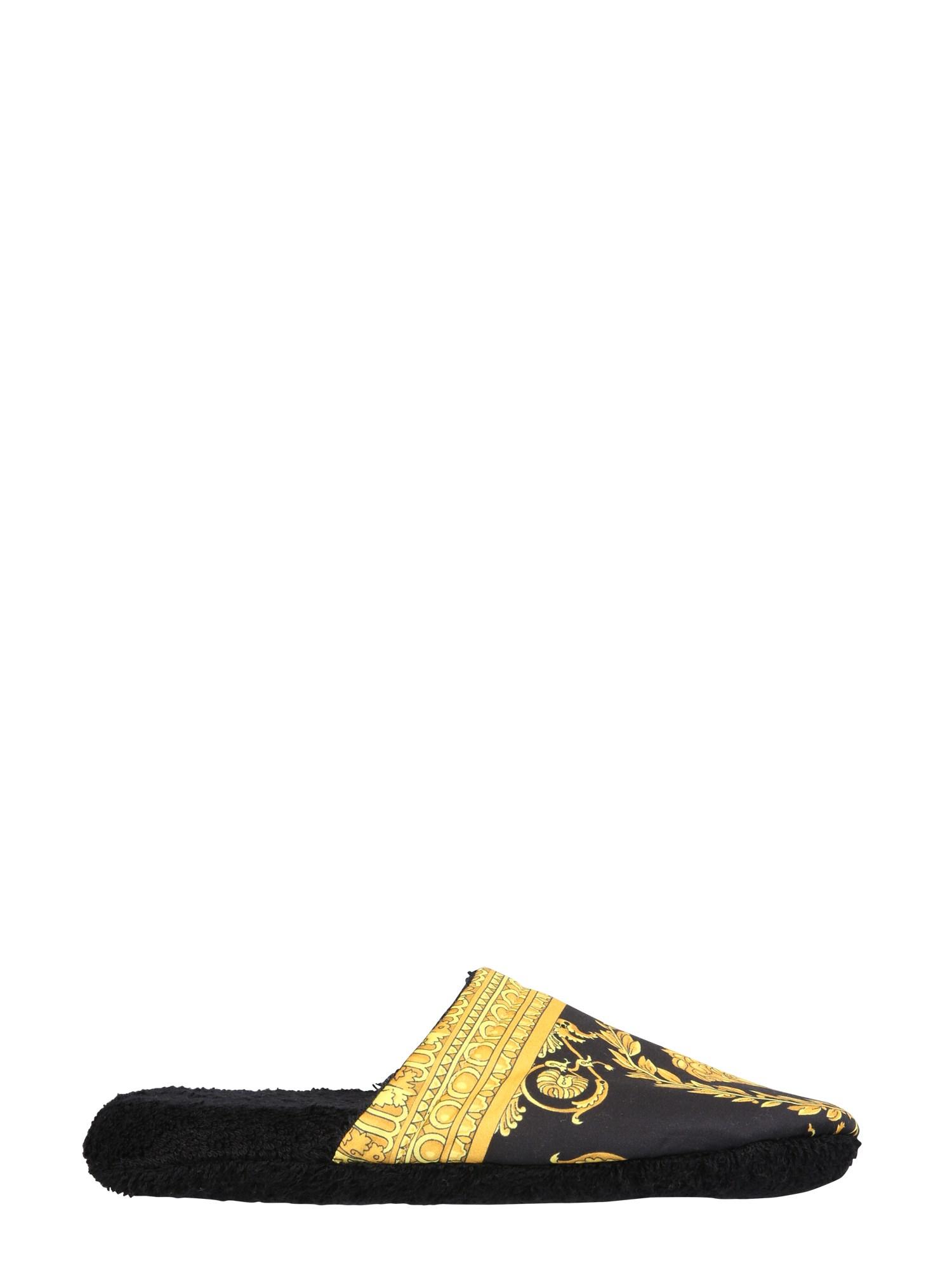 Versace cotton slippers - versace - Modalova