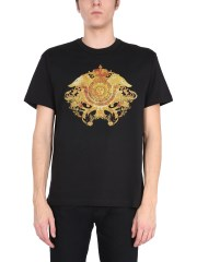 VERSACE JEANS COUTURE - T-SHIRT CON STAMPA E STRASS