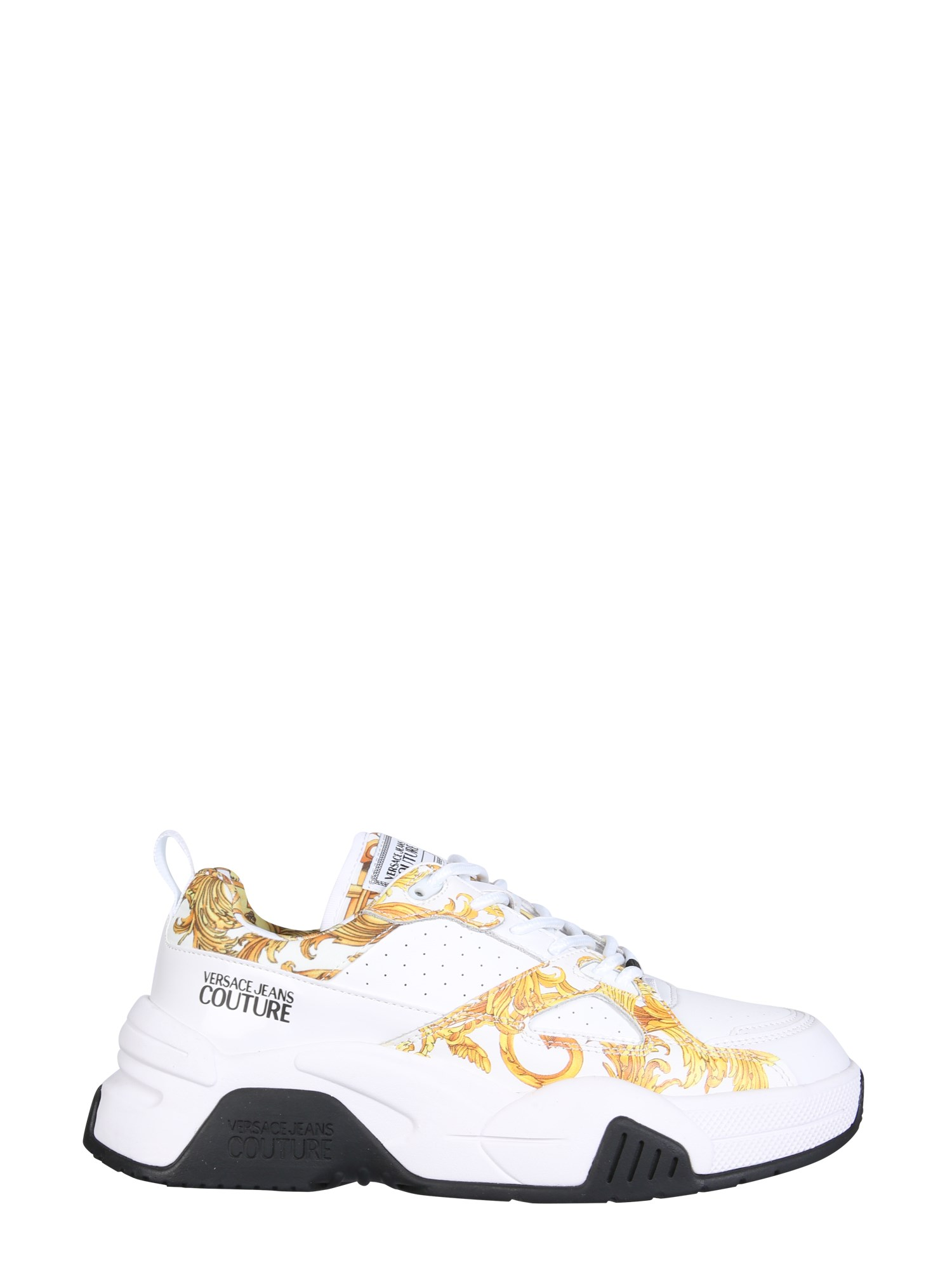 Versace Jeans Couture Leathers BAROQUE PRINT SNEAKERS