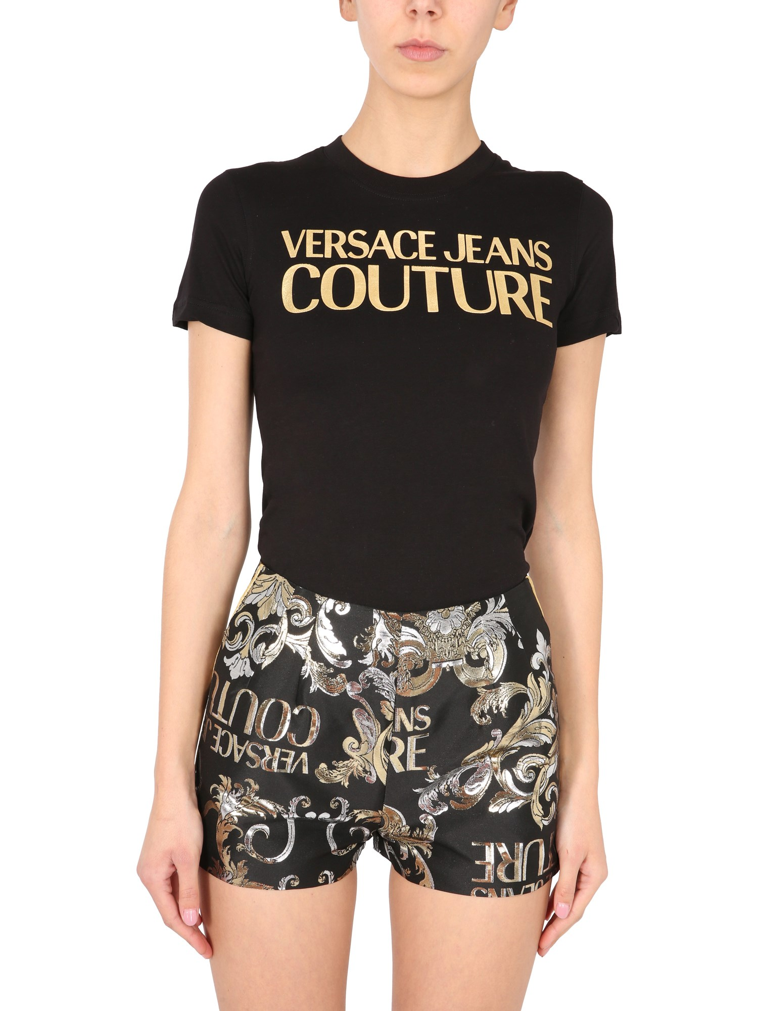 Versace Jeans Couture T-SHIRT CON LOGO METALLICO