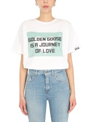 """GOLDEN GOOSE DELUXE BRAND - T-SHIRT """"AIRA"""" CON STAMPA"""
