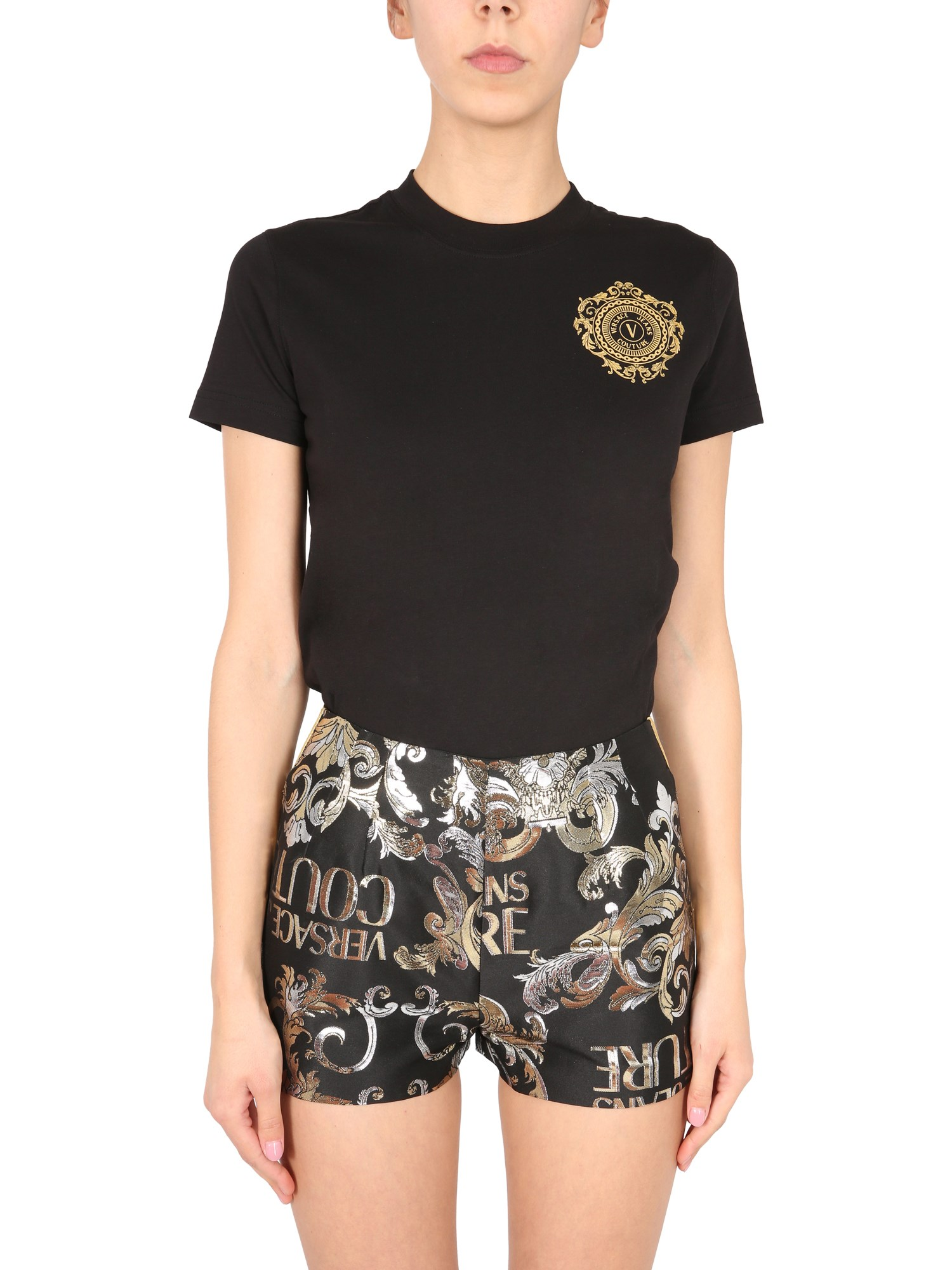 Versace Jeans Couture T-SHIRT CON STAMPA V-EMBLEME