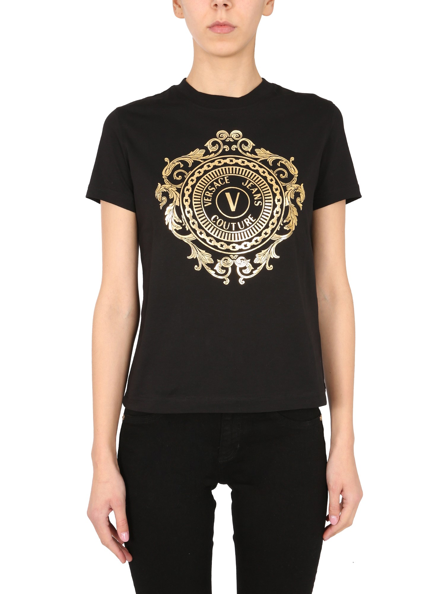 Versace Jeans Couture T- SHIRT CON STAMPA V-EMBLEM