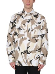 KENZO - CAMICIA CON STAMPA CAMOFLAUGE