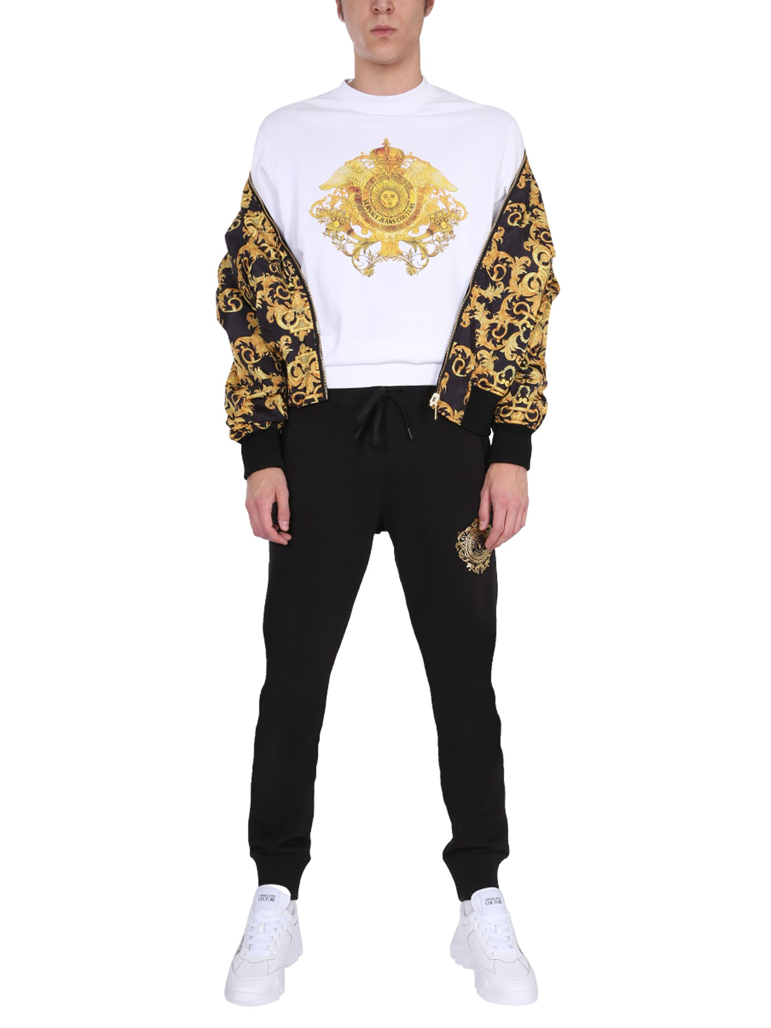 VERSACE JEANS COUTURE BOMBER REVERSIBILE CON STAMPA