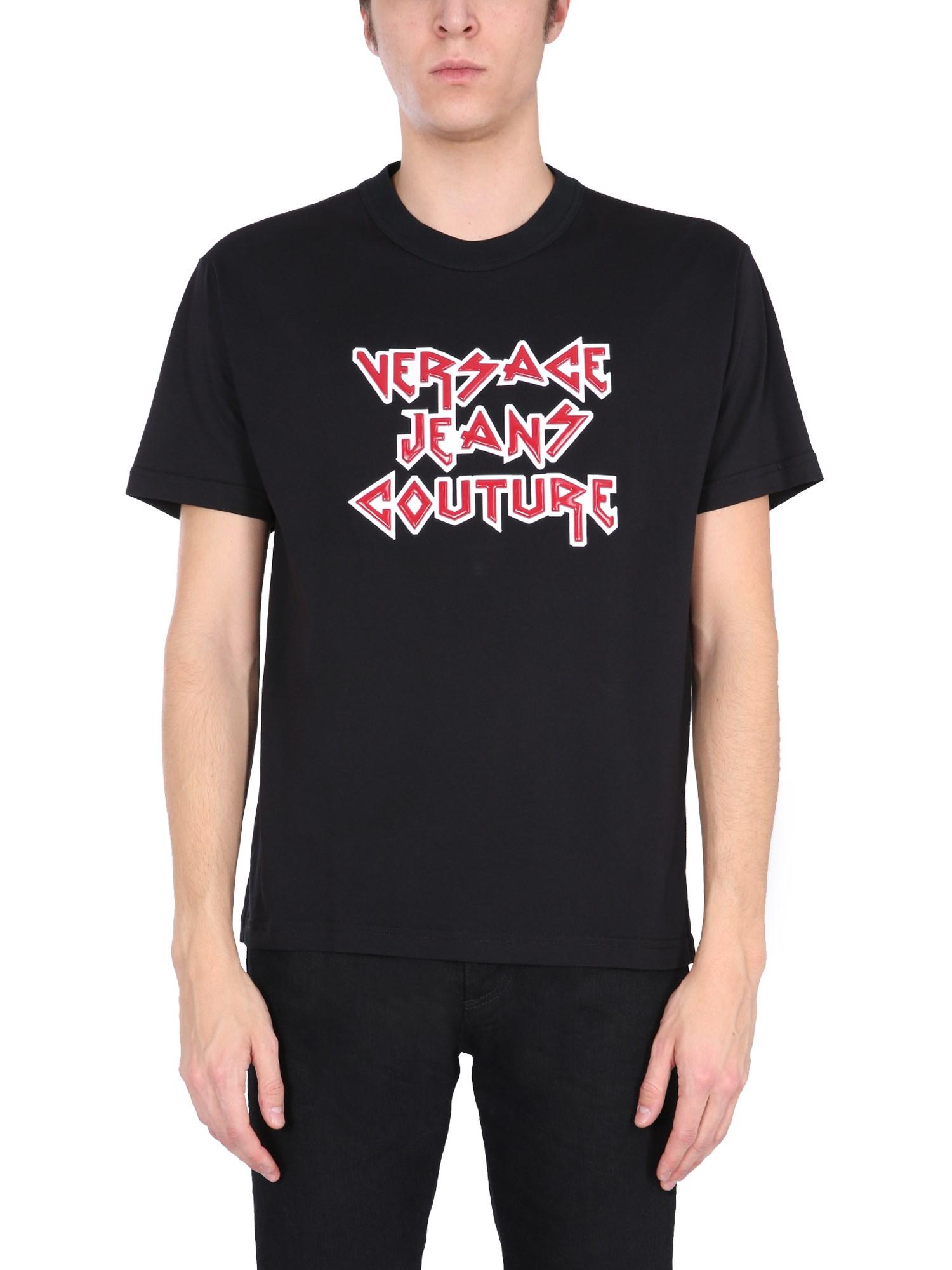 Versace Jeans Couture T-shirts T-SHIRT CON LOGO ROCK