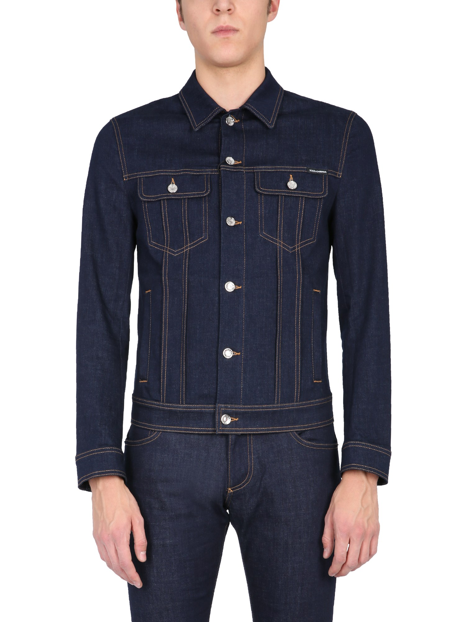 Dolce & Gabbana GIACCA IN DENIM STRETCH