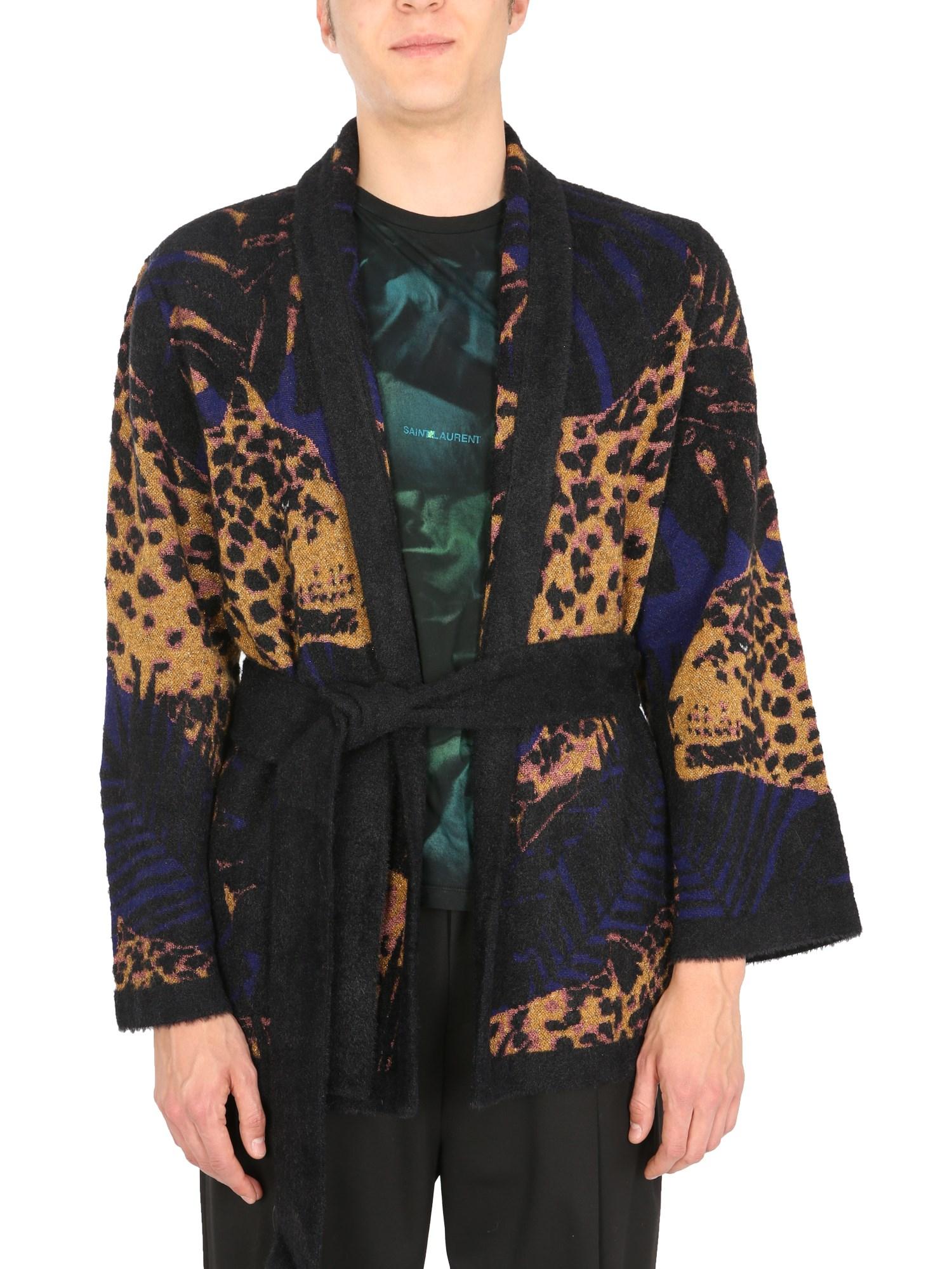 saint laurent short bathrobe