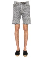 SAINT LAURENT - SHORTS CON STAMPA MACULATA