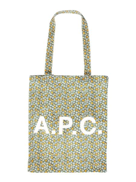 A.p.c. - Lou Tote Canvas Bag With Floral Mold