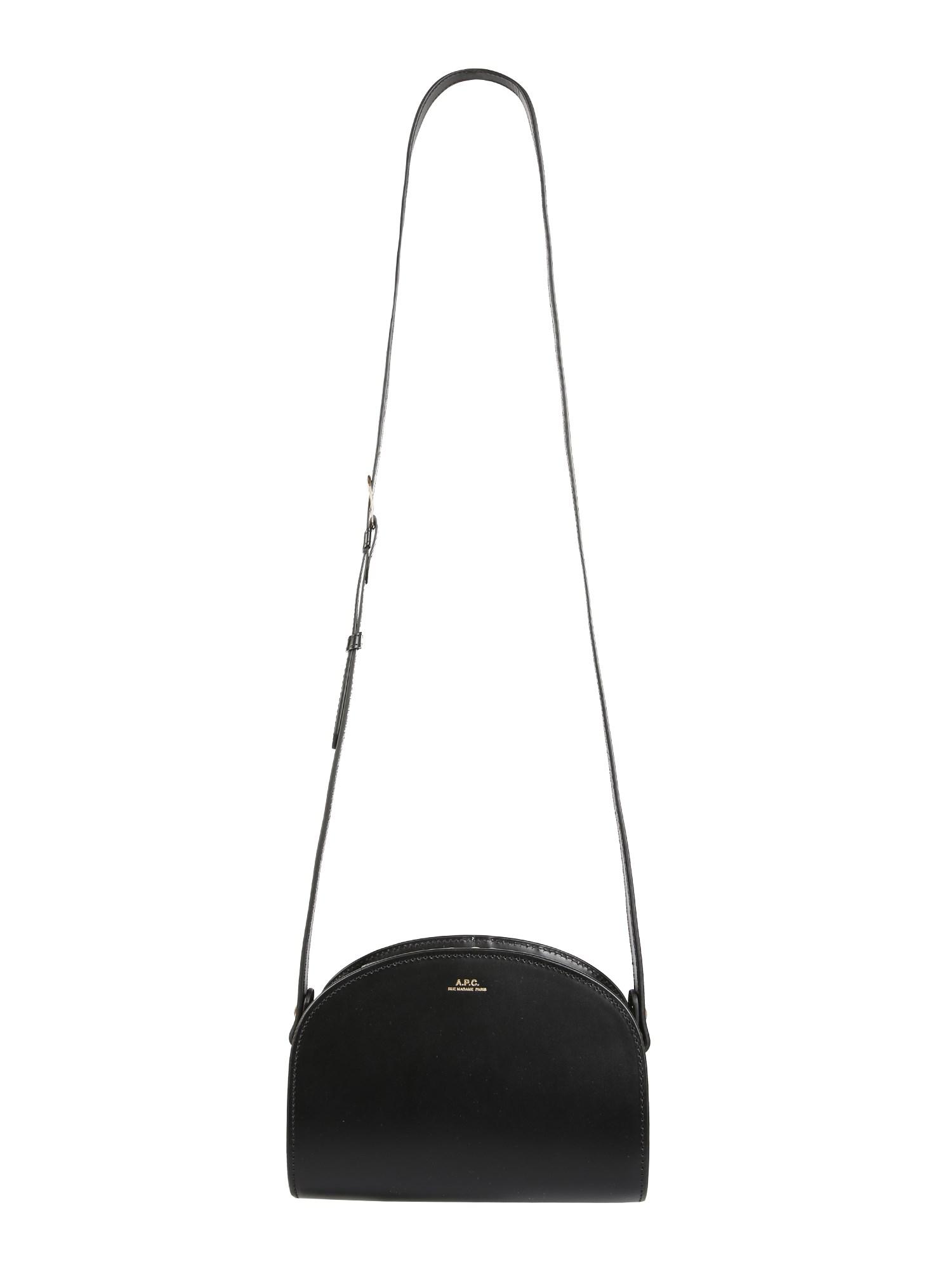 A.p.c. Mini Demi Lune Bag In Black