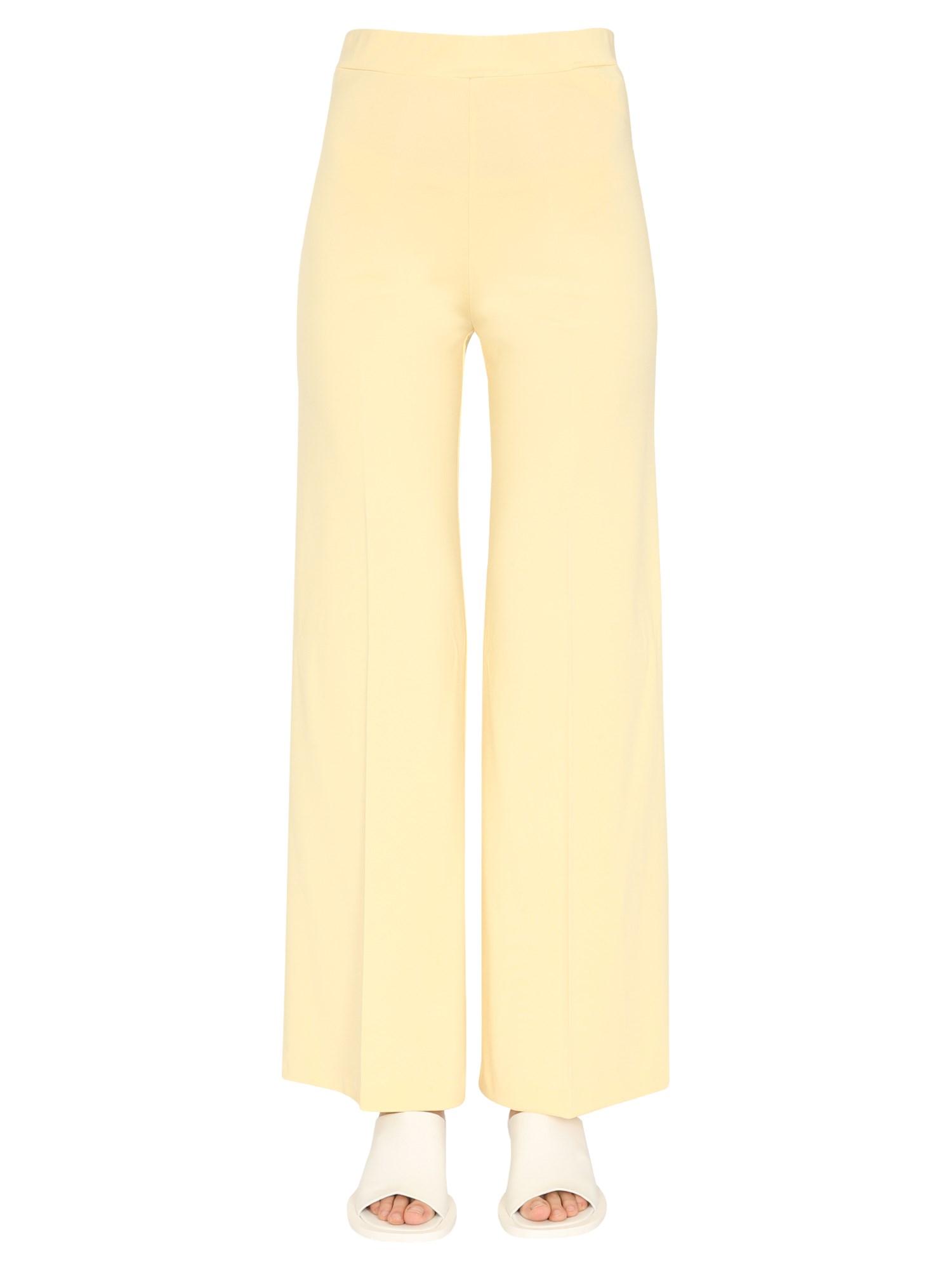 Jil Sander Wide Trousers In Giallo