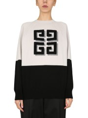 GIVENCHY - PULLOVER BICOLORE IN CASHMERE