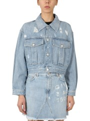 GIVENCHY - GIACCA CROPPED IN DENIM