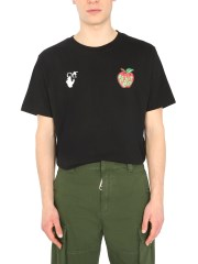 """OFF-WHITE - T-SHIRT """"APPLE"""" CON STAMPA"""