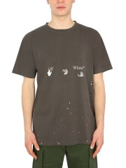 OFF-WHITE - T-SHIRT CON STAMPA VINTAGE