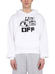 OFF-WHITE - FELPA CON CAPPUCCIO