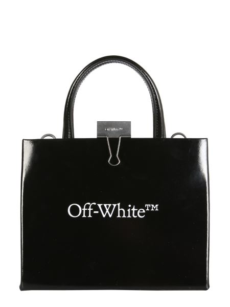 Off-white - Mini Leather Box Bag With Logo