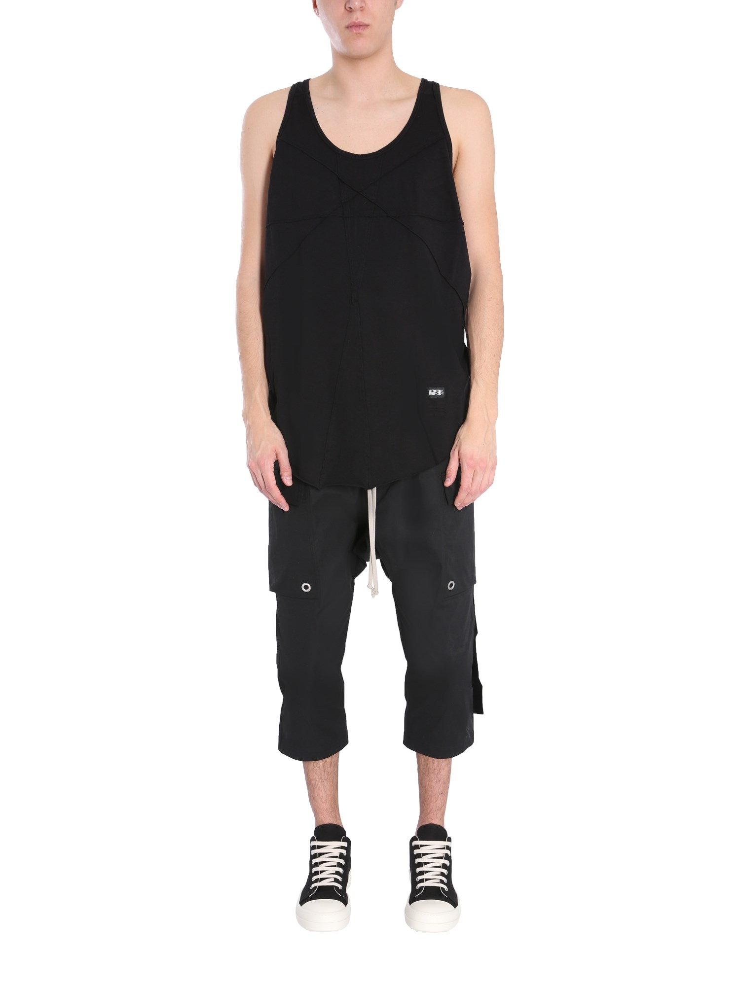 Rick Owens Drkshdw Clothing TANK TOP WITH RIBBON