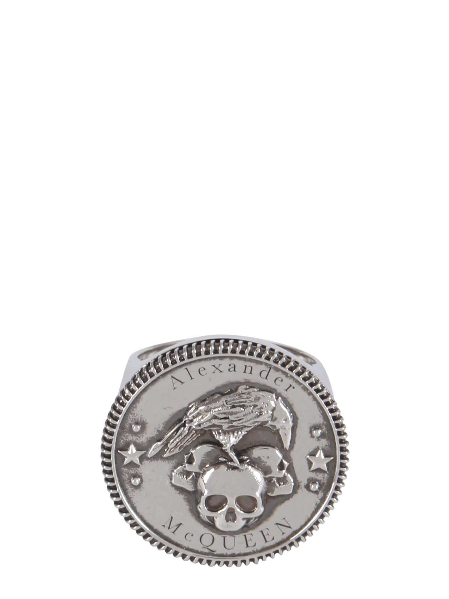 Alexander Mcqueen CROWN AND SKULL RING